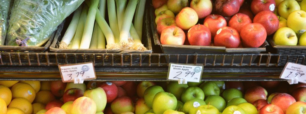 Supermarkt Gemüseregal